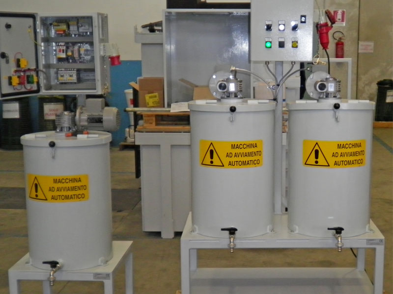 Coating mixer for two containers