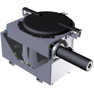 Tilting Coaxial transfer ladle with fixed-point discharge